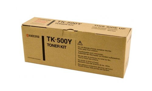 Kyocera TK-500Y - Yellow Toner Cartridge - 8,000 pages