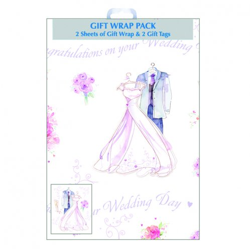 Gift Wrap - Alpen - Sheets & Tags - Wedding Day - Pack of 2