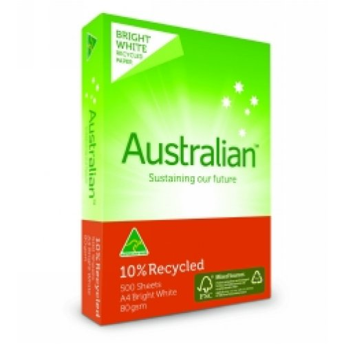 A4 Copy Paper - Australian 10% Recycled