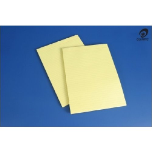 Office Pads Olympic A4 Bank Ruled Yellow 100lf