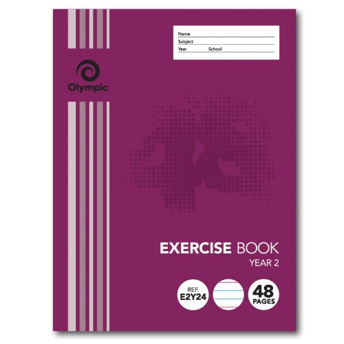 Exercise Book - Olympic - 225x175mm - Year 2 - 48 Page