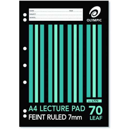 Lecture Pad Olympic A4 7 Hole (70 Leaf)