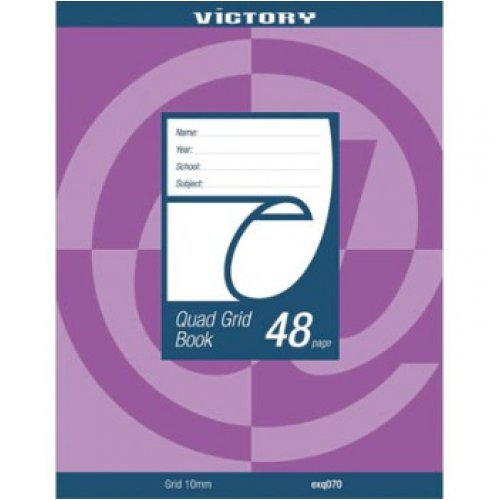 Quad Book 10mm 225x175mm 48 Page Victory