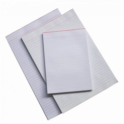 Office Pads - Quill - A5 - Bank Ruled - White - 90lf - 60gsm