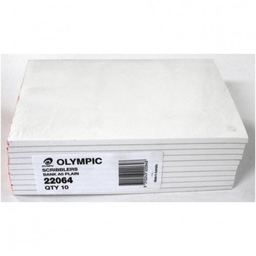Office Pads - Olympic - A5 - Bank Plain - 100LF