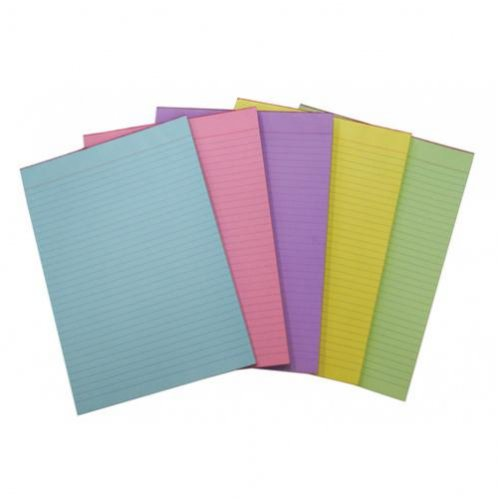 Office Pads - Quill - A4 - Bond Ruled - Lilac - 70gsm - 70lf