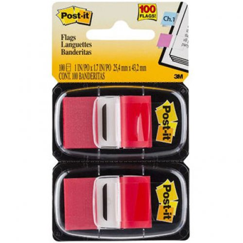 Post-It Flags - 680-RD2 - Red - Twin Pack of 100