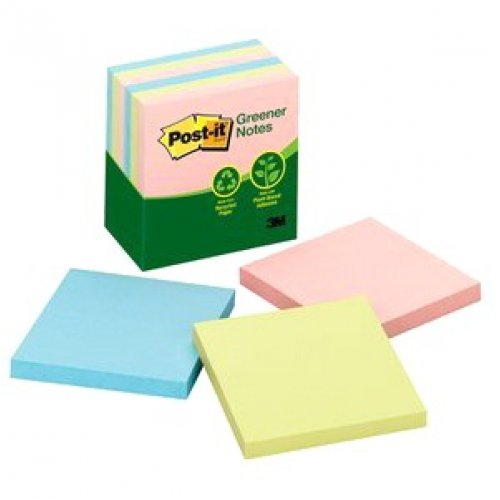 Post-it Notes - Greener - Pastel 76 X 76mm - 5416-RP-AP - Pack of 6 Pads