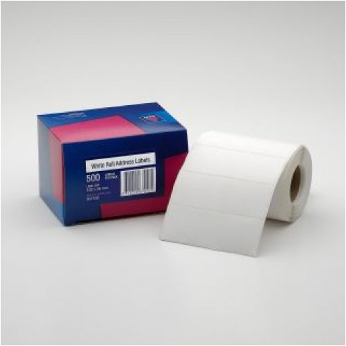 Label Avery Roll Labels 102 x 36mm 937109 White Box 500