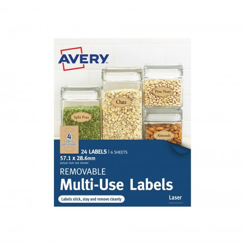 Labels Avery Writable 57.1x28.6mm Scollop Kraft Brown (26 pack)