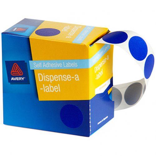 Adhesive Dots - Avery - 24mm Blue - Box of 500
