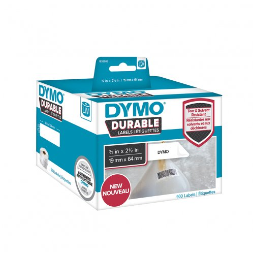 Label Dymo 19mmx64mm LW450 Shipping White Roll (900 Labels)