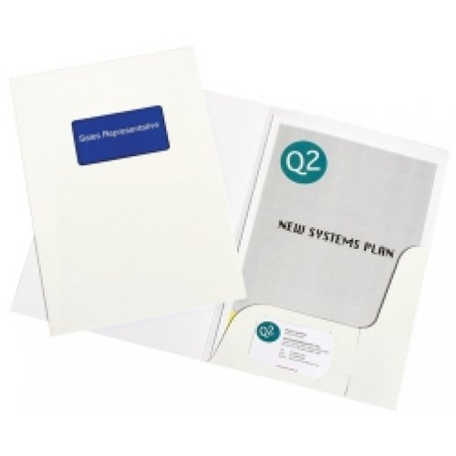 Presentation Folder Marbig A4 with Window Gloss White (10 Pack)