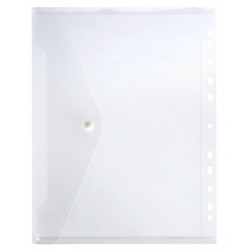 Binder Pocket Marbig A4 With Button Closure Clear