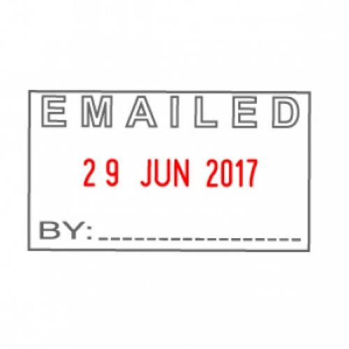 Stamp Shiny Emailed Date S 410 Self Inking