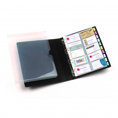 Business Card Book And Case - Holds 500 Cards