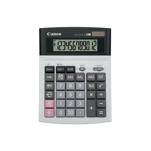 Calculator - Canon - WS-1210Hi III - Desktop - Dual Power