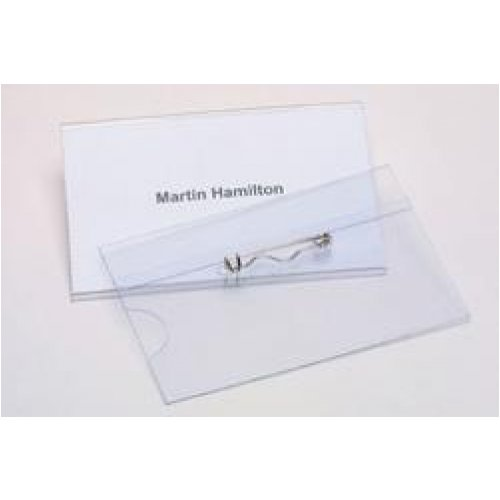Name Badge Convention With Pin - Rexel - Box of 50